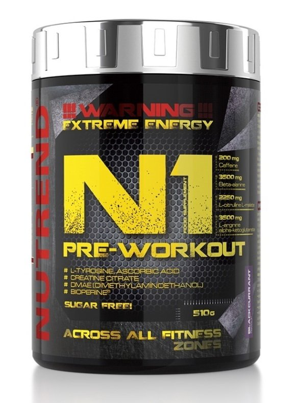 N1 Pre-Workout od Nutrend 10 x 17 g Blue Raspberry