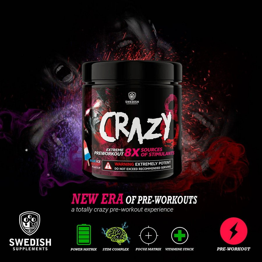 Crazy 8 - Swedish Supplements 260 g Crazy Pepper Coke
