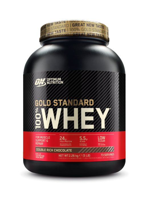 100% Whey Gold Standard Protein - Optimum Nutrition 4540 g Double Rich Chocolate