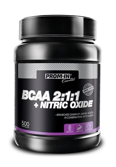 BCAA 2: 1: 1 + Nitric Oxide - Prom-IN 500 kaps.