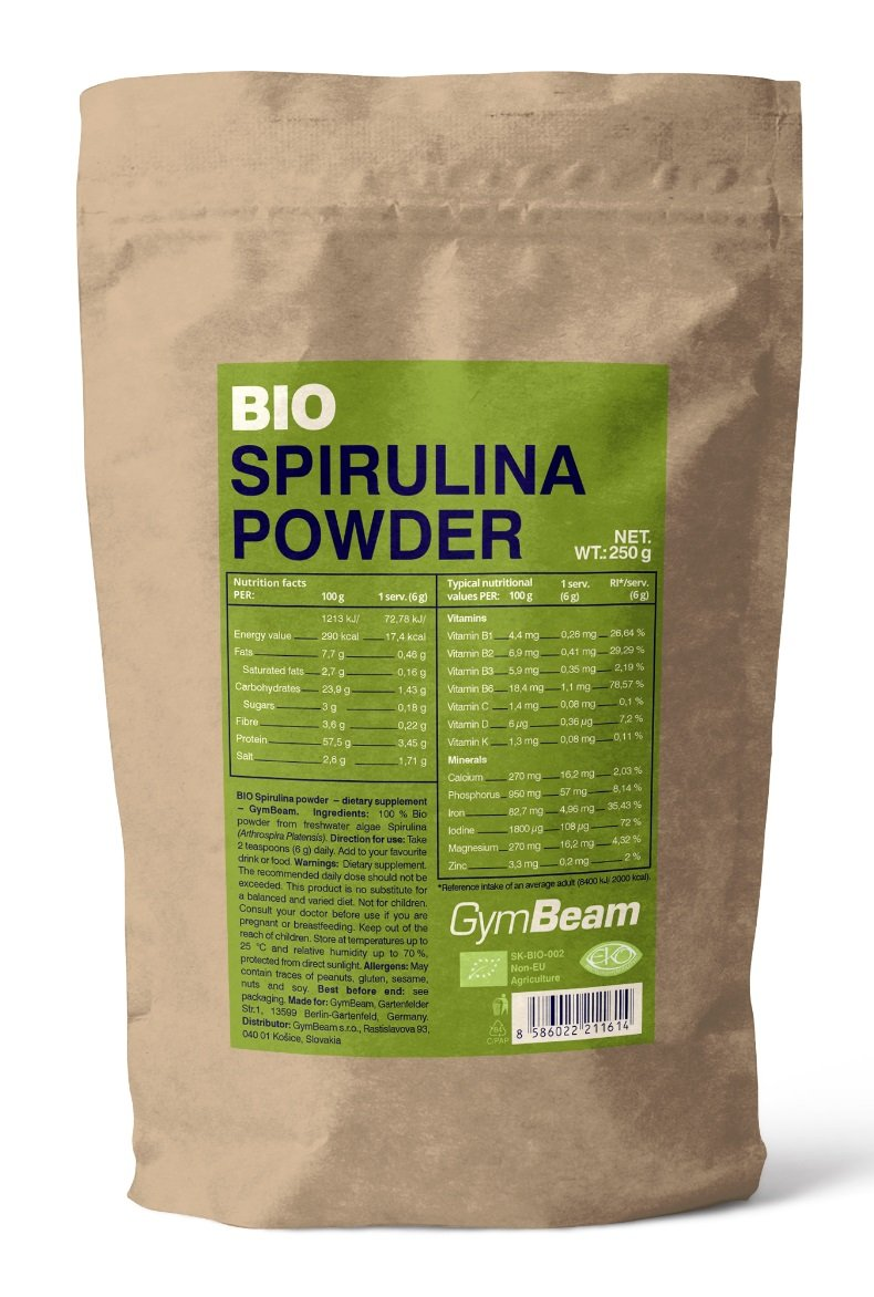 Bio Spirulina Powder - GymBeam 250 g