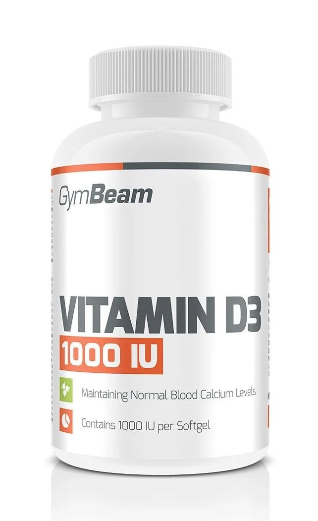Vitamin D3 1 000 IU - GymBeam 120 kaps.